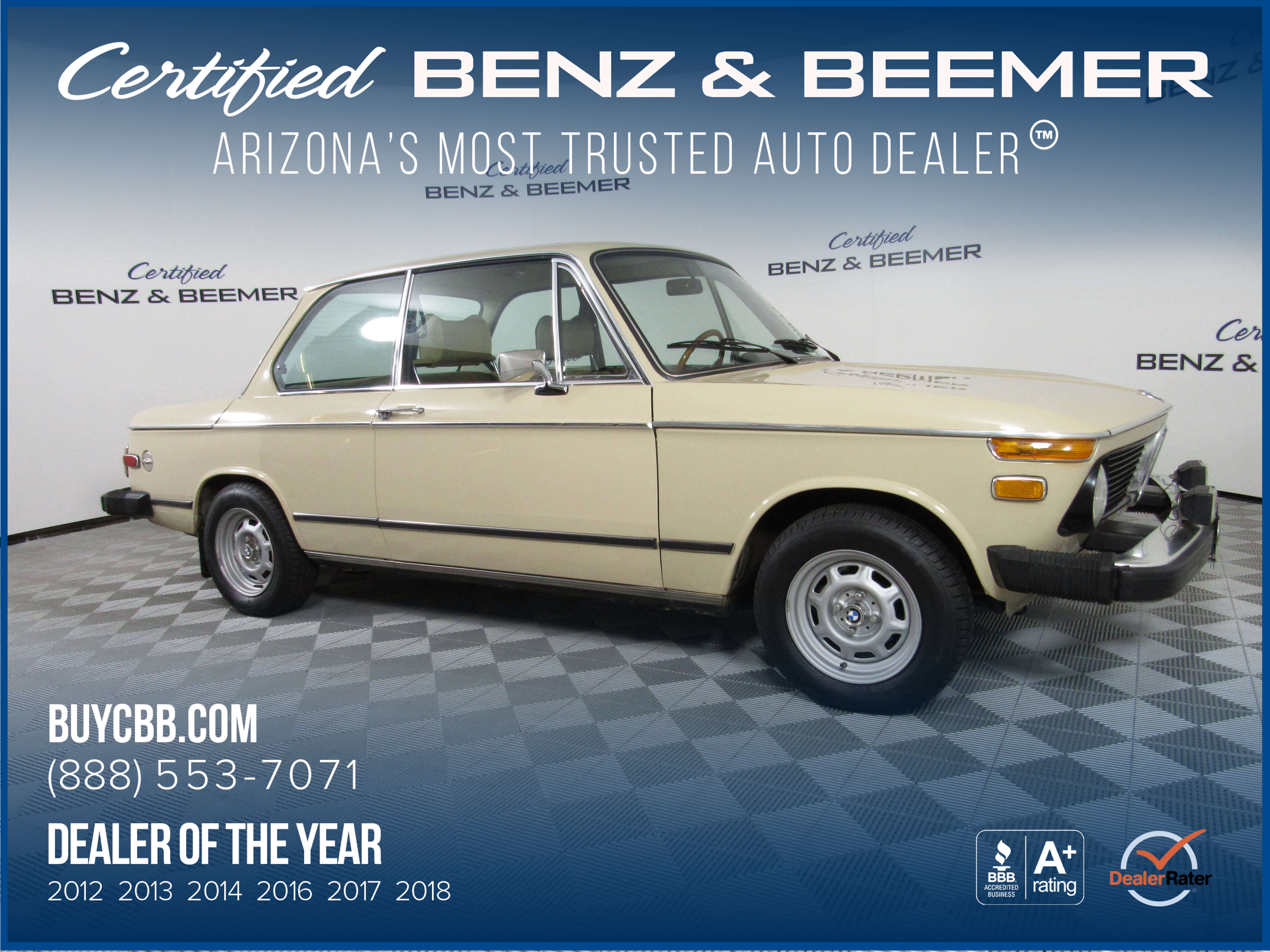 Certified Benz & Beemer - Used 1974 BMW 2002